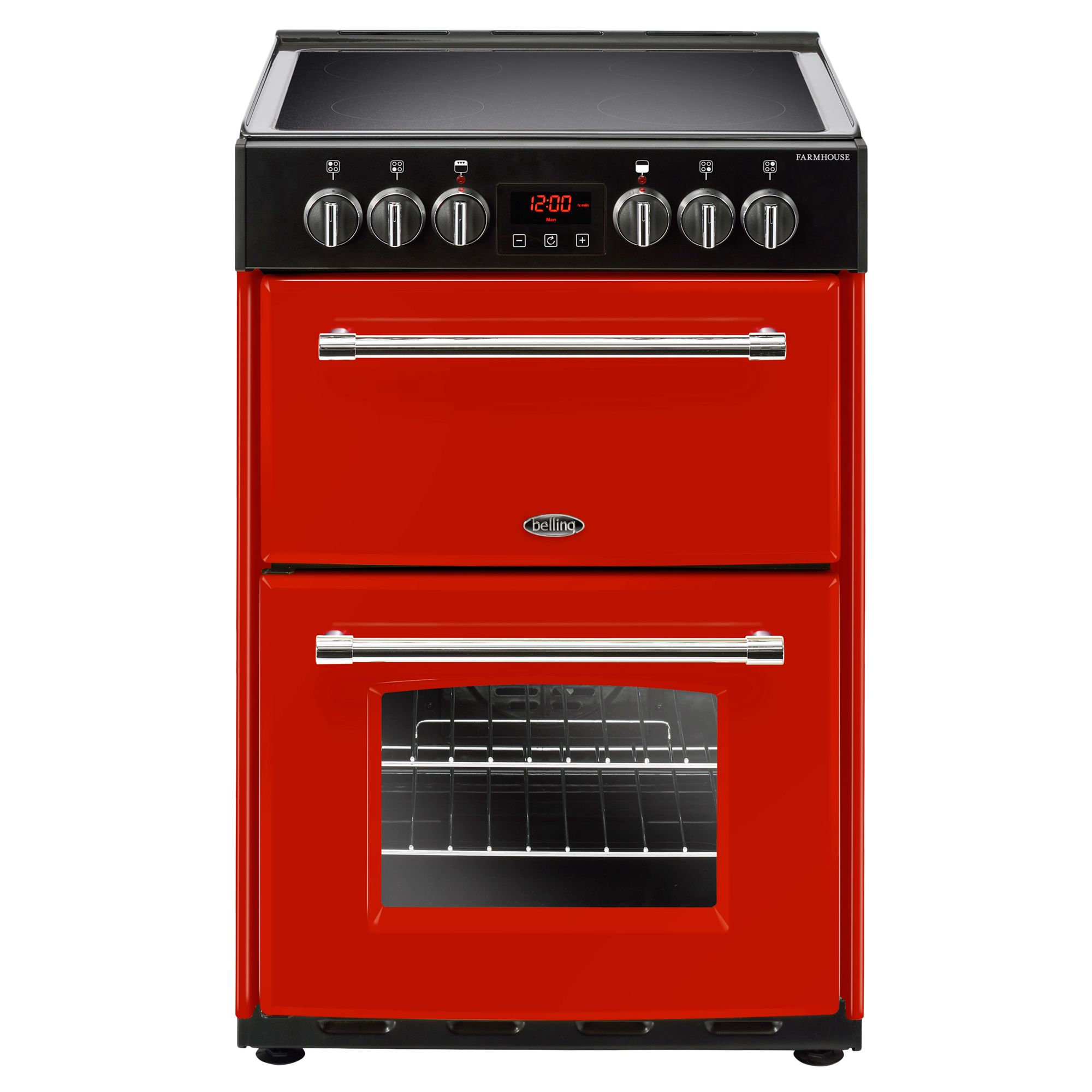 Belling Belling Farmhouse 60E Electric Cooker with Ceramic Hob, 60cm Wide