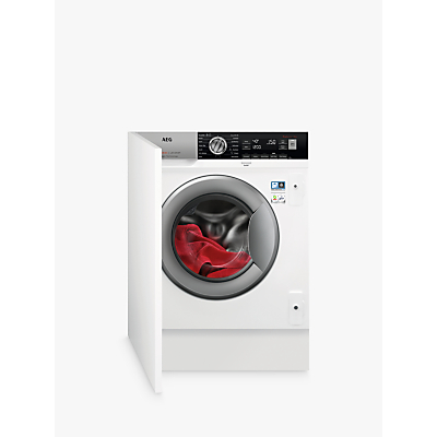 AEG L7FC8432BI Integrated Washing Machine, 8kg Load, A+++ Energy Rating, White