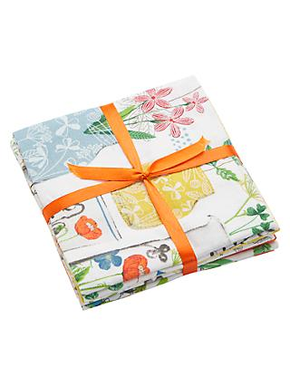 Visage Textiles Farm Fresh Print Fat Quarter Fabrics, Pack of 5, Multi