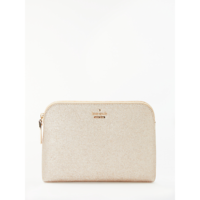 kate spade new york Burgess Court Briley Small Makeup Bag, Soft Gold