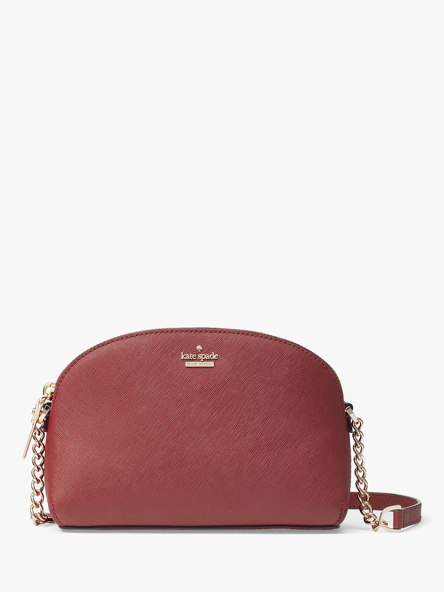 ca7463f03 Buy kate spade new york Cameron Street Hilli Leather Cross Body Bag, Sienna  Online at ...