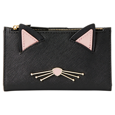 kate spade new york Cat's Meow Mikey Leather Purse, Black