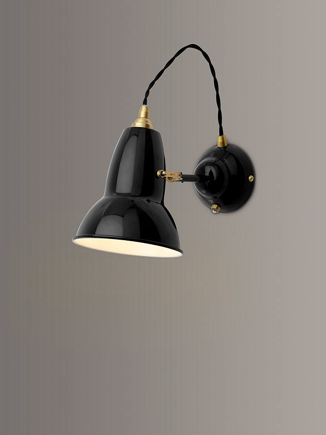 Buy Anglepoise Original 1227 Brass Wall Light, Black Online at johnlewis.com