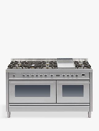 ILVE Roma PW150FE3 150cm Dual Fuel Range Cooker, A Energy Rating