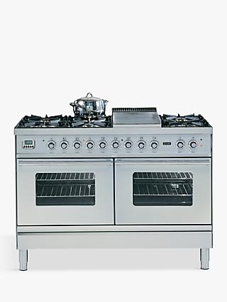 ILVE Roma PDW120FE3 120cm Dual Fuel Range Cooker, A Energy Rating,