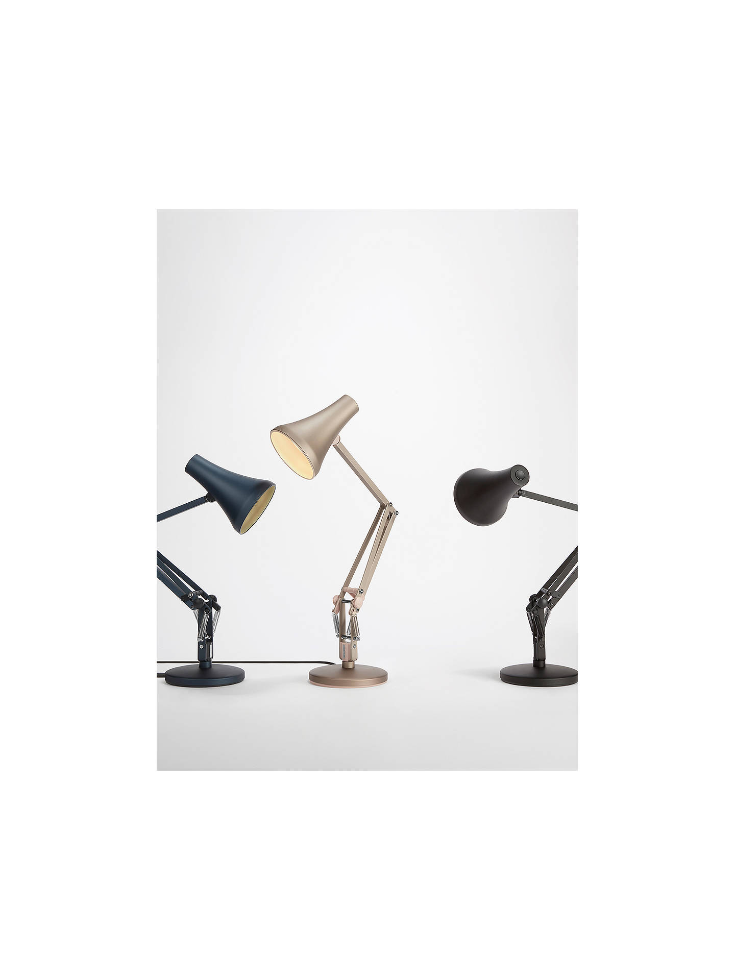 BuyAnglepoise 90 Mini Mini LED Desk Lamp, Blue Online at johnlewis.com