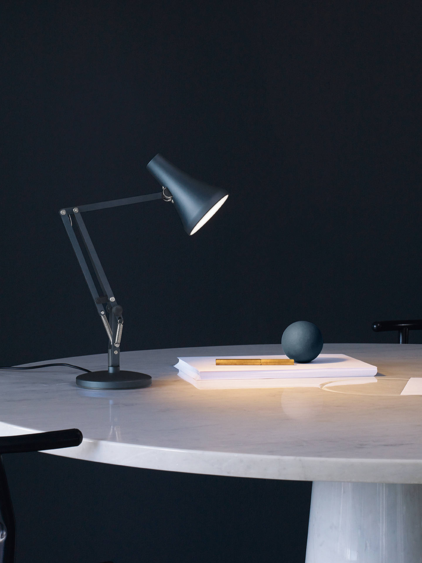 Buy Anglepoise 90 Mini Mini LED Desk Lamp, Blue Online at johnlewis.com
