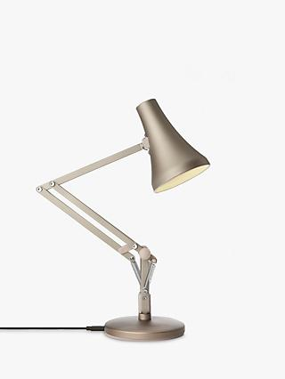 Anglepoise 90 Mini Mini LED Desk Lamp, Blush Silver