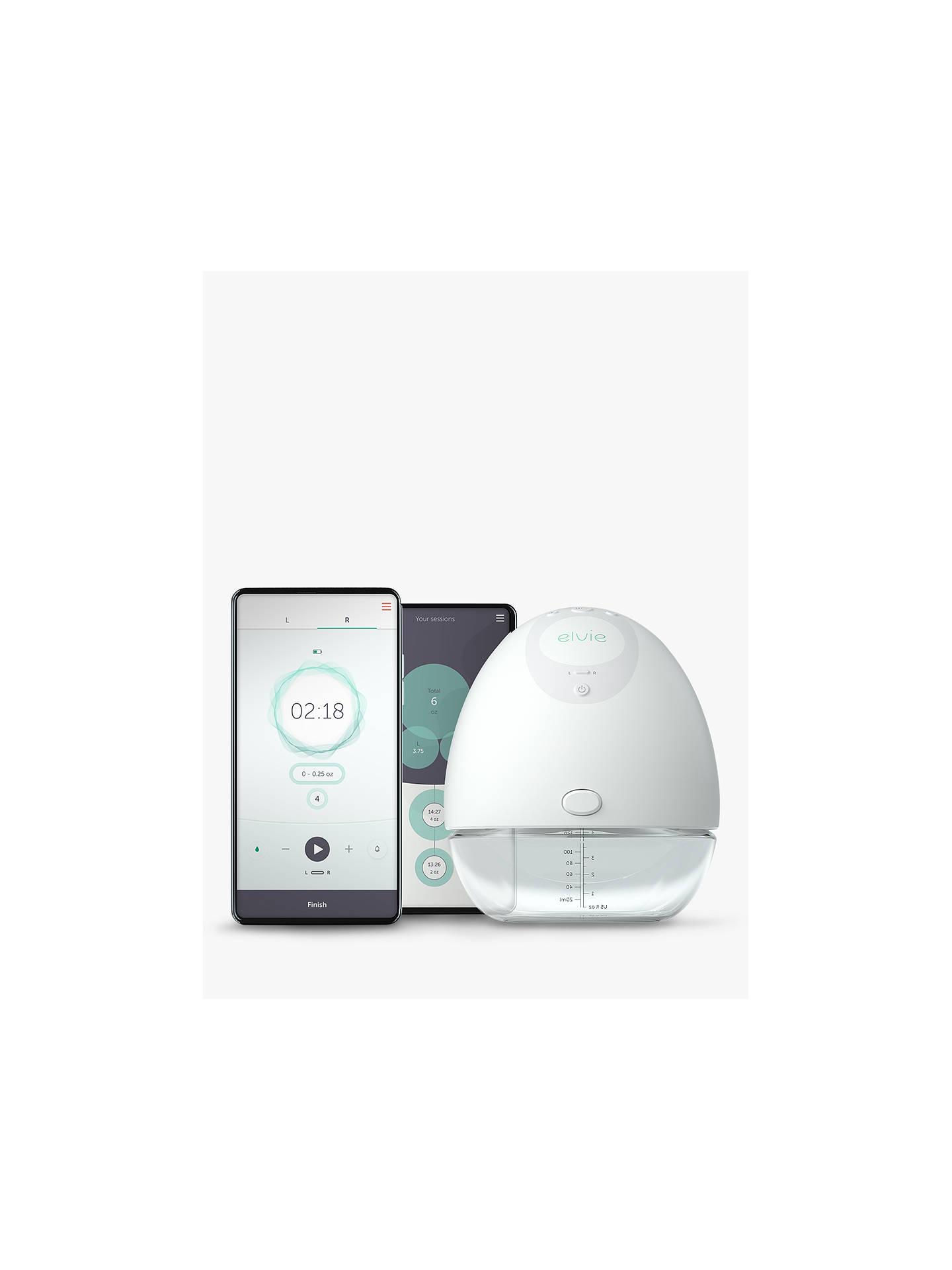 Buy Elvie Single Electric Breast Pump Online at johnlewis.com