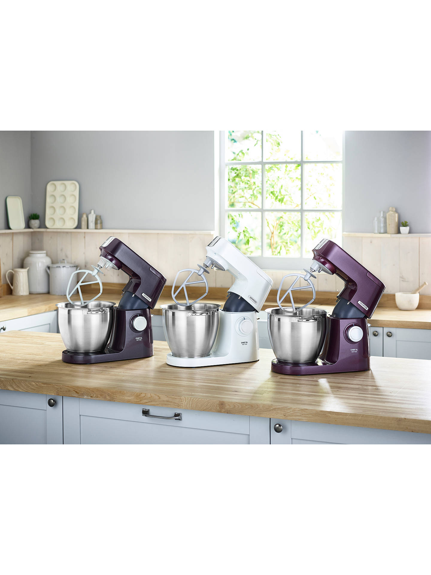 Buy Kenwood KQL6100Z Chef XL Sense Special Edition Food Mixer, Granite Grey Online at johnlewis.com