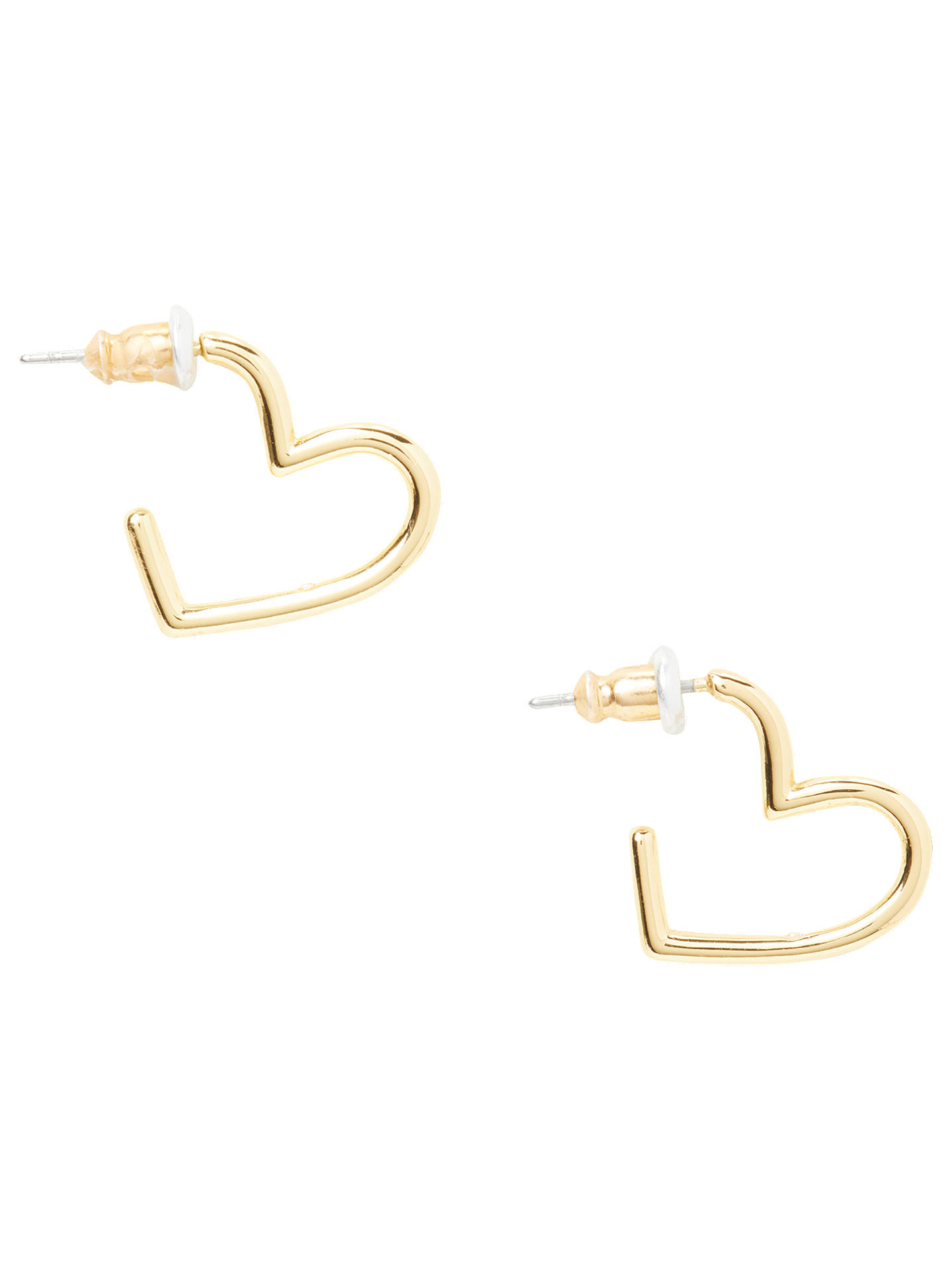 199c2527534a0 kate spade new york Mini Heart Hoop Earrings, Gold