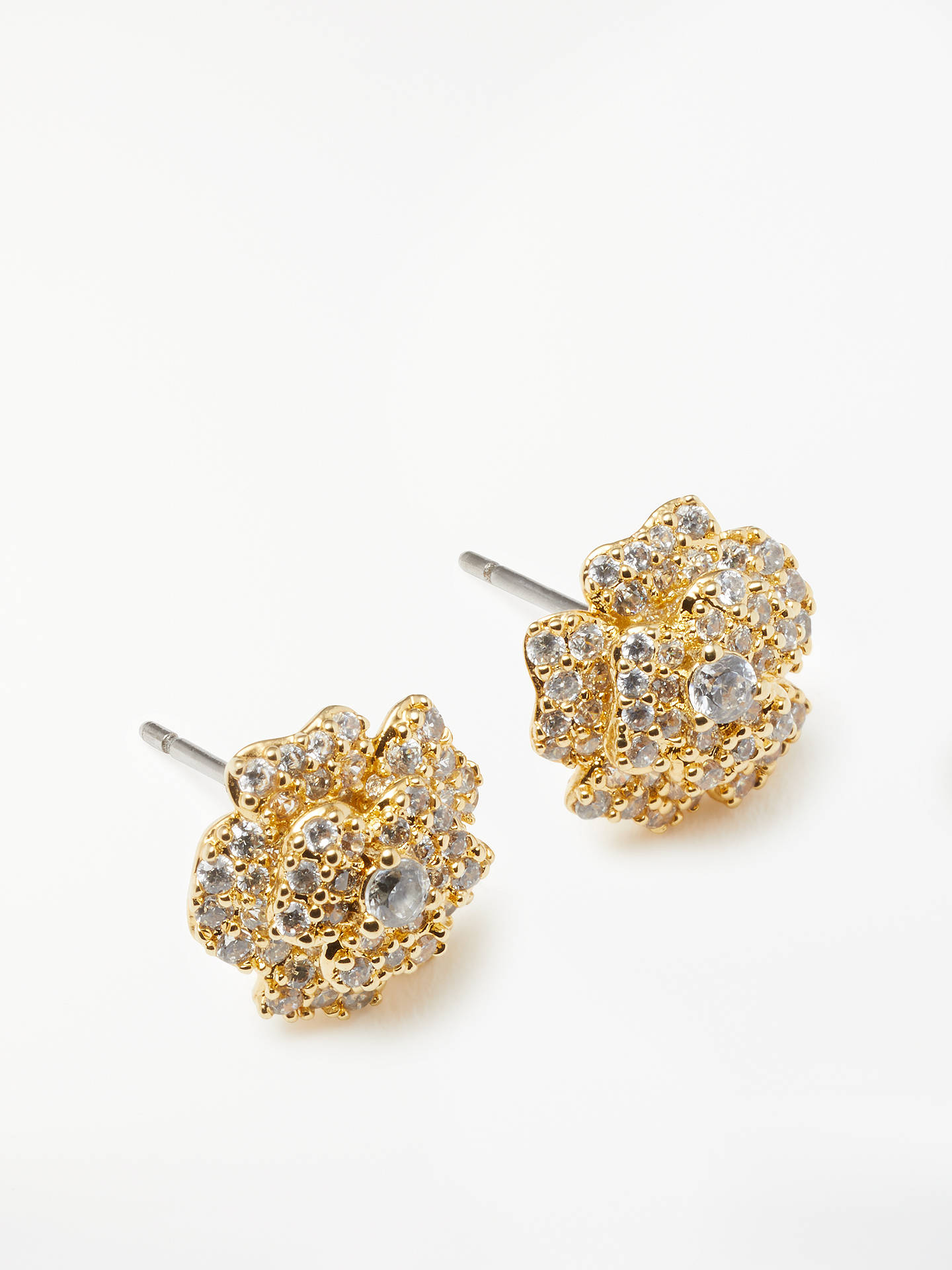 e5a589e36 Buy kate spade new york Cubic Zirconia Flower Stud Earrings, Gold Online at  johnlewis.