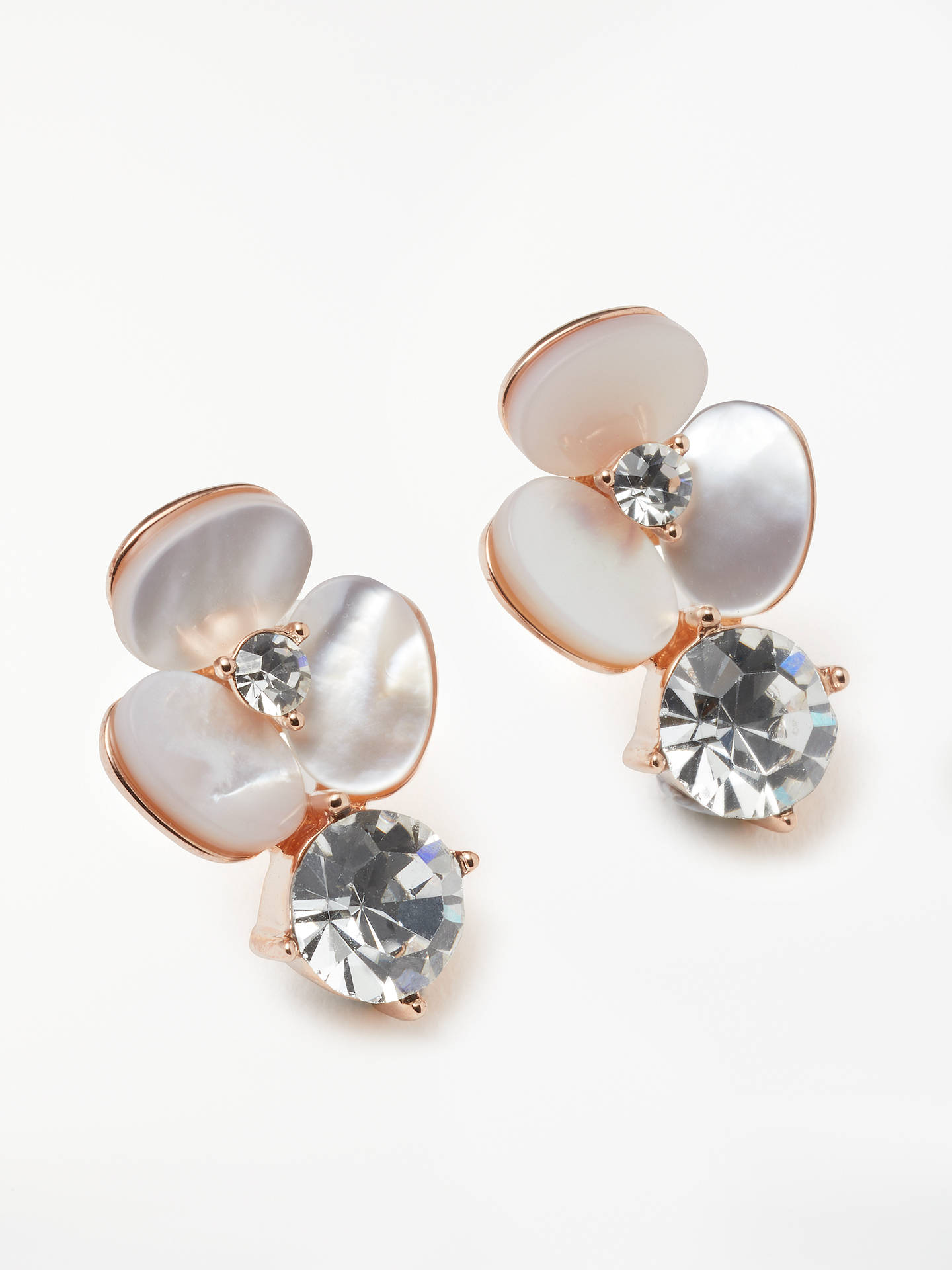 119f4cbdd Buy kate spade new york Mother of Pearl Flower Stud Earrings, Rose  Gold/Neutrals ...