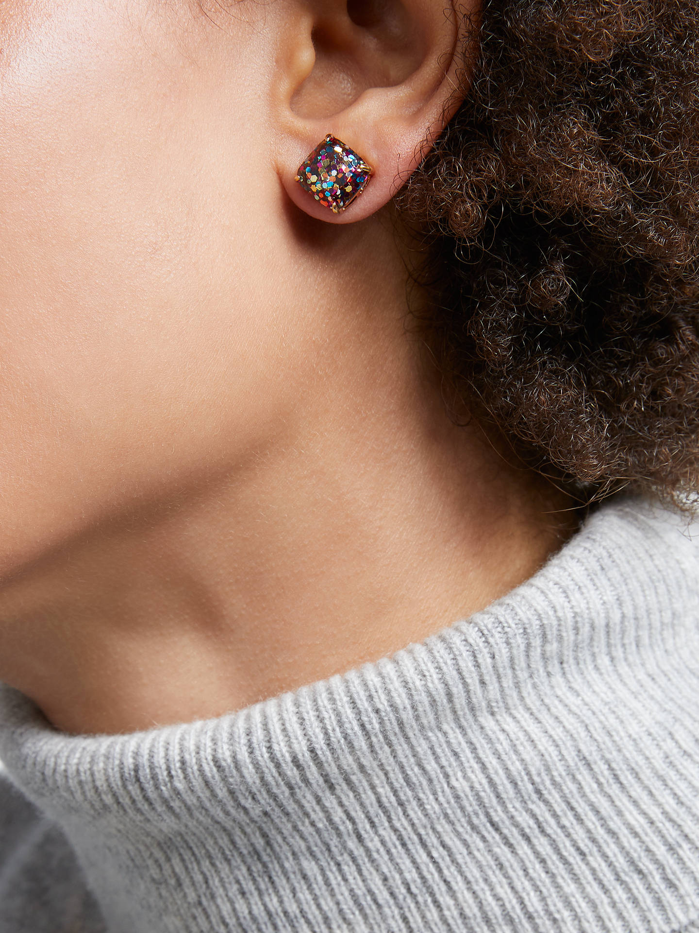 Buykate spade new york Square Glitter Stud Earrings, Multi Online at johnlewis.com