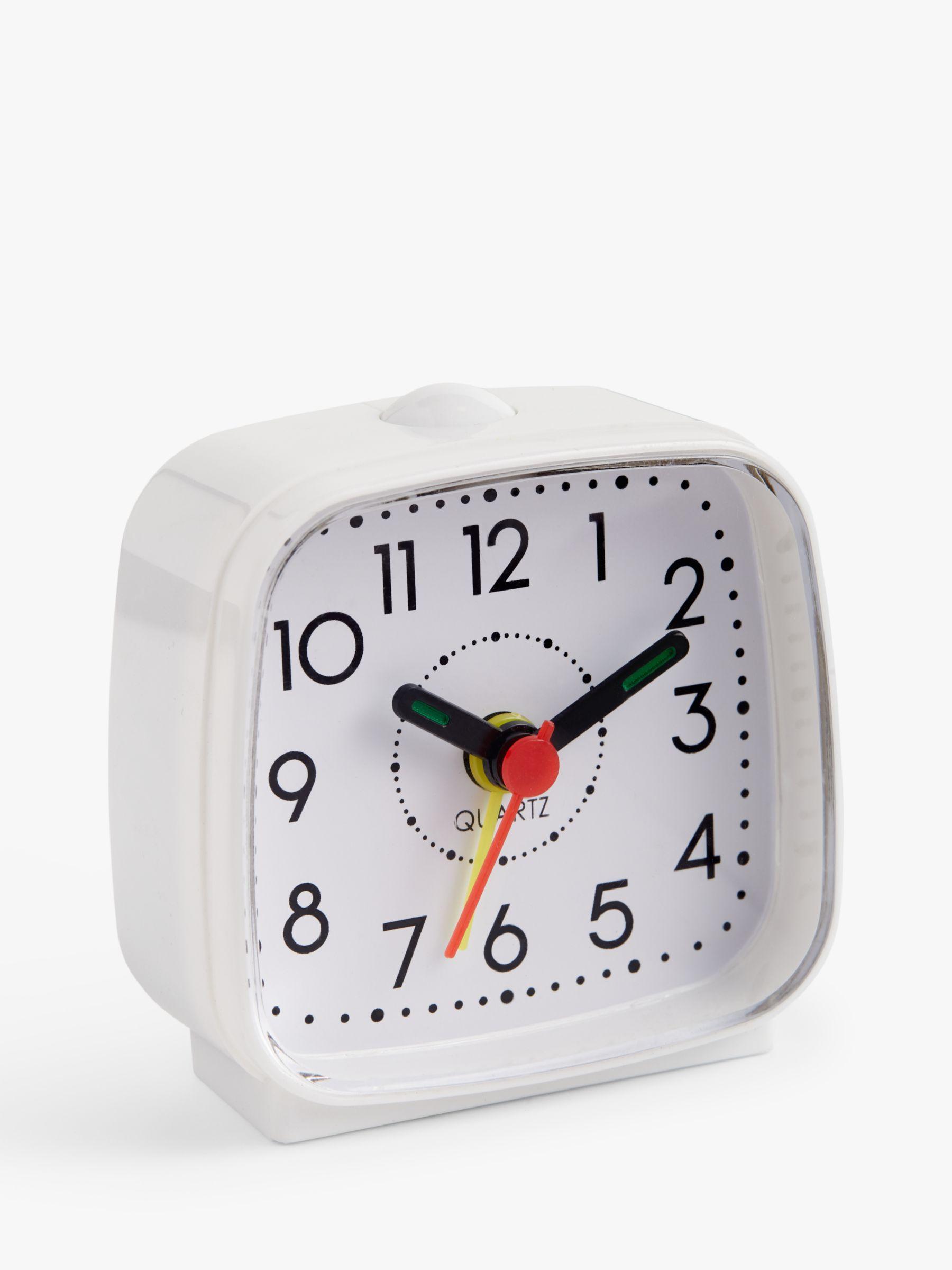 ANYDAY John Lewis & Partners Analogue Alarm Clock, White