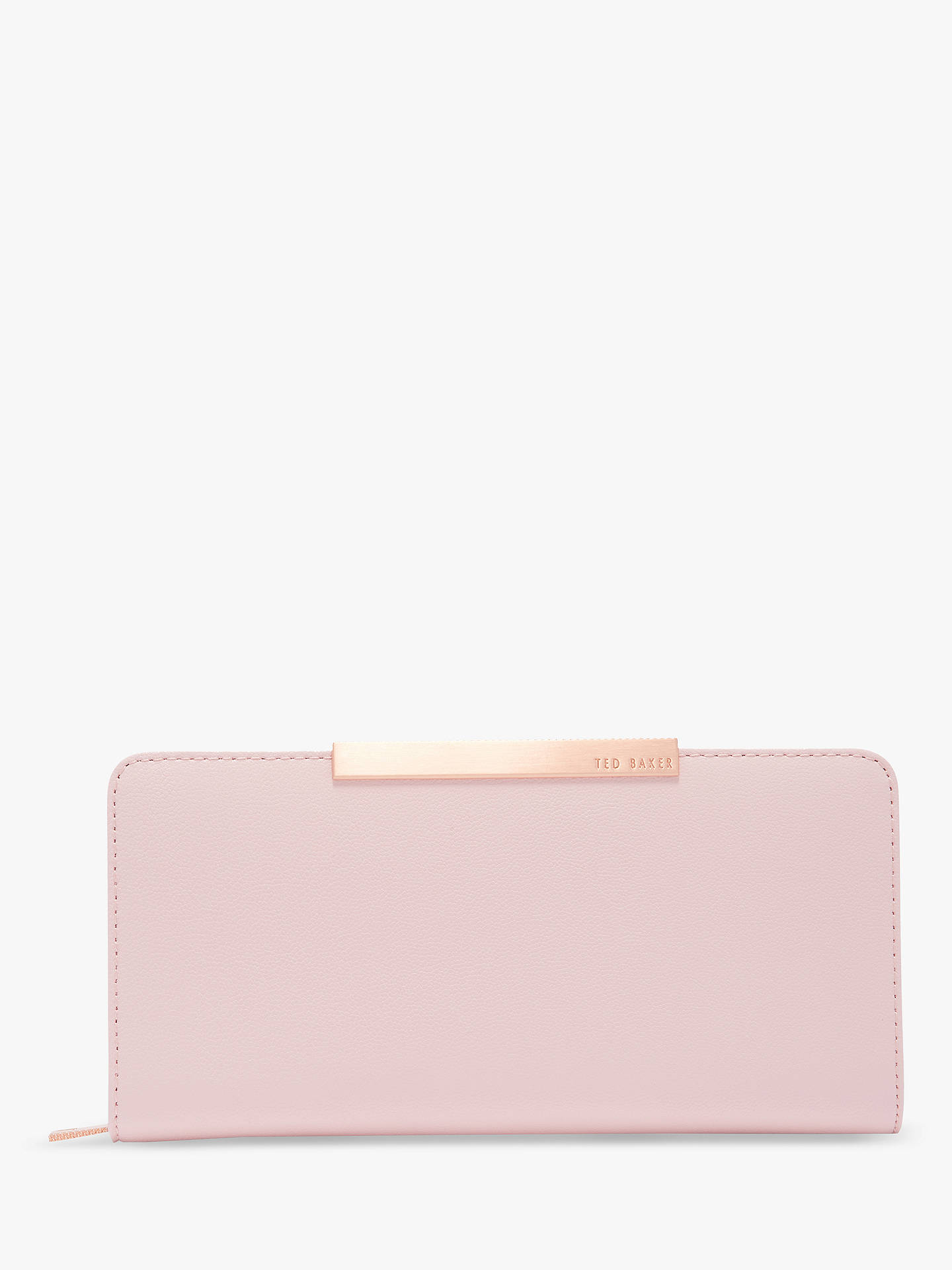 Buy Ted Baker Pelle Leather Bar Matinee Purse, Mid Pink Online at johnlewis.com