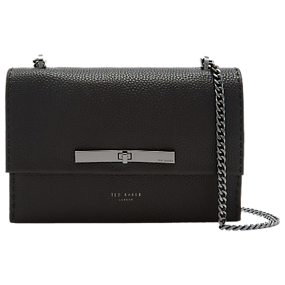 Image of Ted Baker Jocie Leather Cross Body Bag, Black