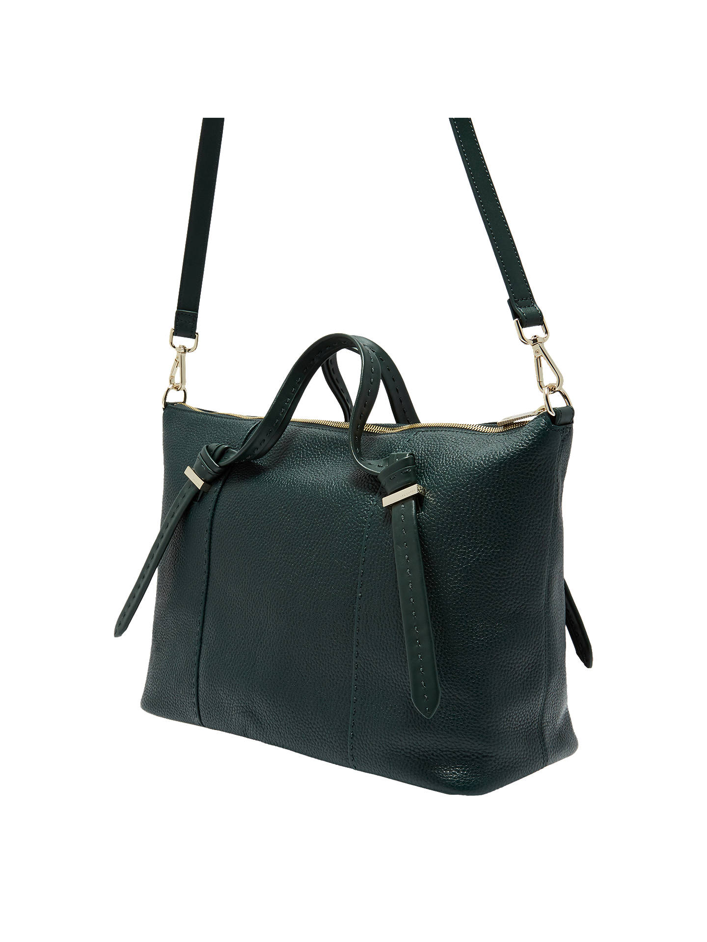 BuyTed Baker Oellie Knotted Handle Large Leather Tote Bag, Dark Green  Online at johnlewis. a055314acc