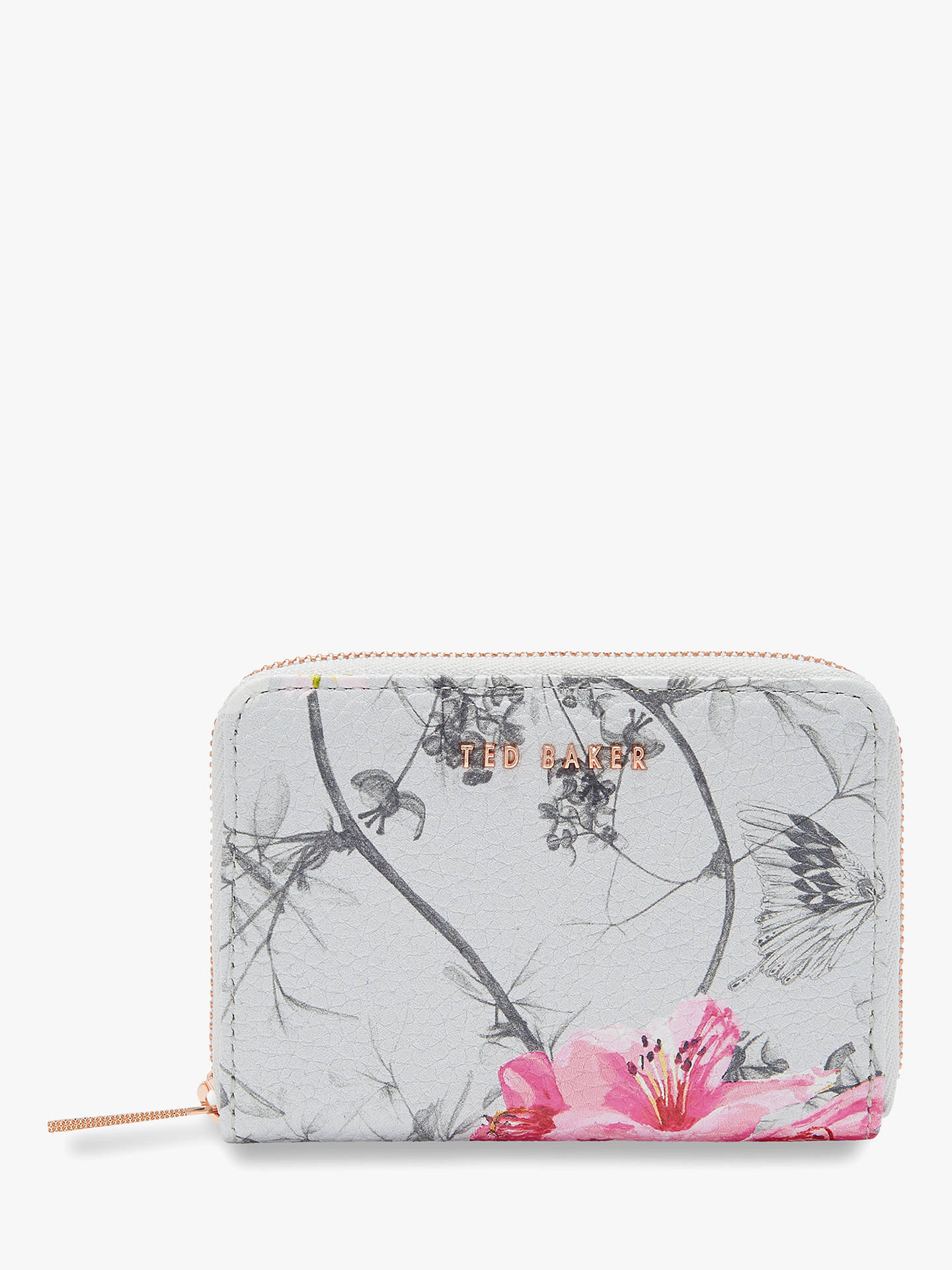BuyTed Baker Inna Babylon Leather Purse, Grey Online at johnlewis.com