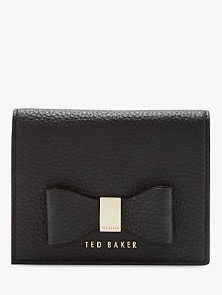 Ted Baker Giadaa Small Leather Foldover Purse Black