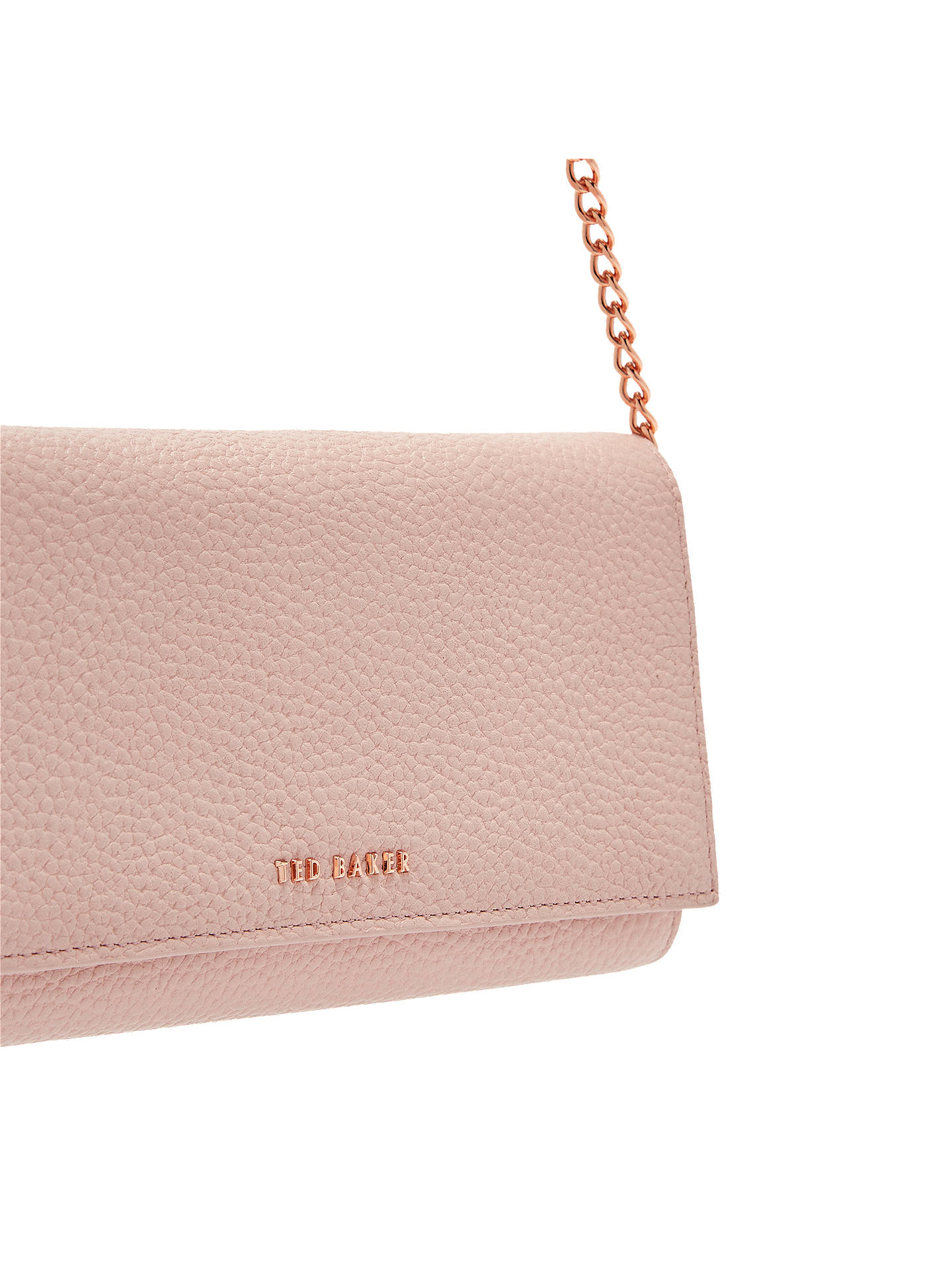 Buy Ted Baker Fiola Leather Cross Body Bag, Pink Online at johnlewis.com