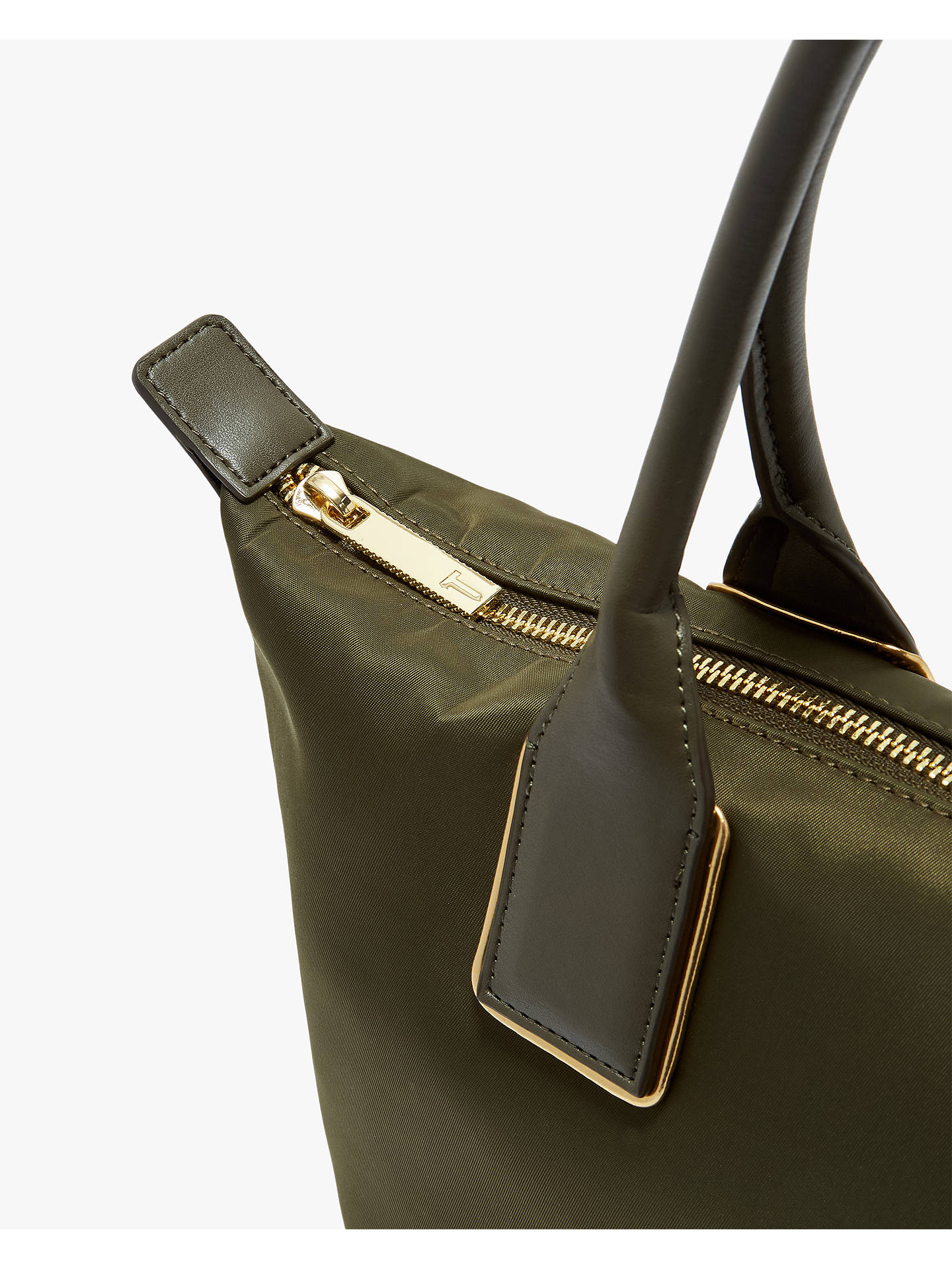 Buy Ted Baker Jicksy Small Tote Bag, Khaki Online at johnlewis.com