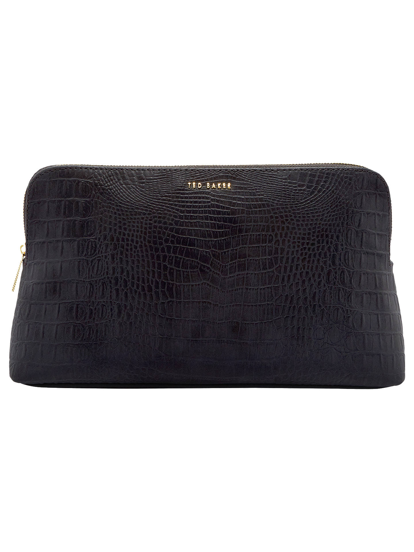 e2d54bc34 Ted Baker Tawny Croc Effect Wash Bag at John Lewis   Partners