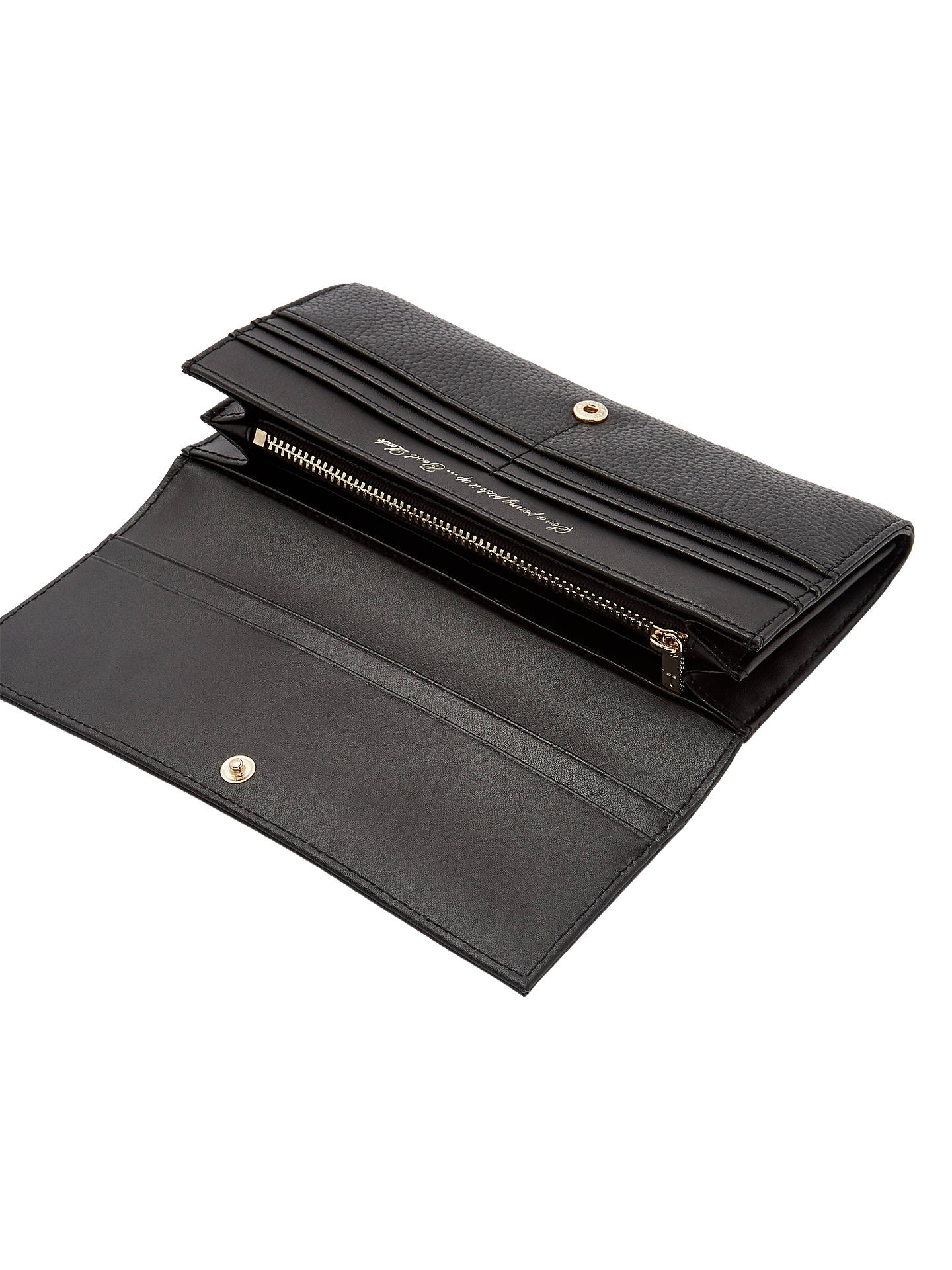 Buy Ted Baker Mirtina Leather Foldover Purse, Black Online at johnlewis.com