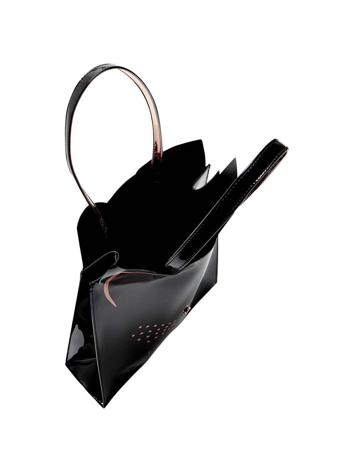 0a3329149d ... Buy Ted Baker Felicon Cat Large Icon Shopper Bag, Black Online at  johnlewis.com ...