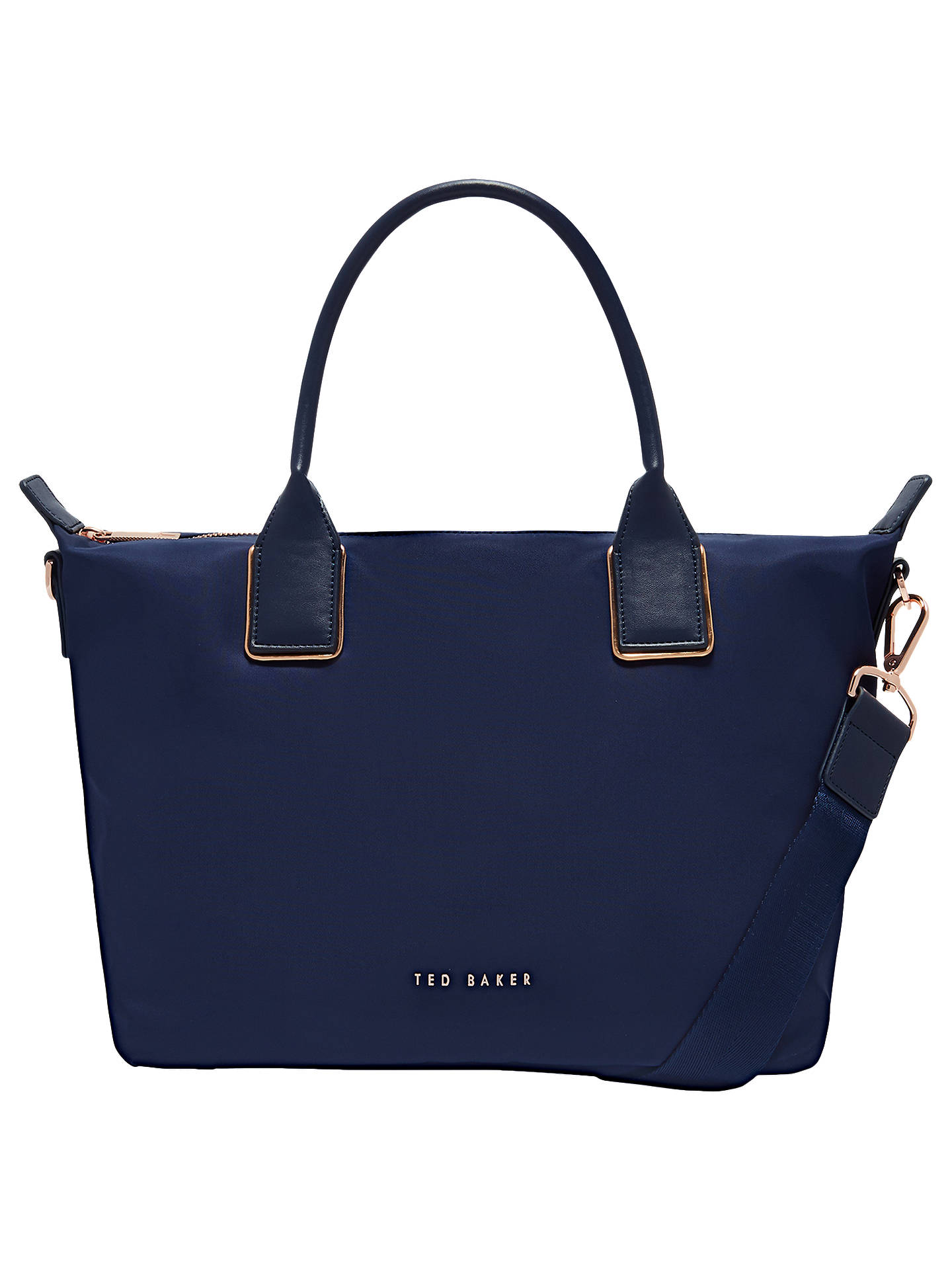 BuyTed Baker Jicksy Small Tote Bag, Dark Blue Online at johnlewis.com