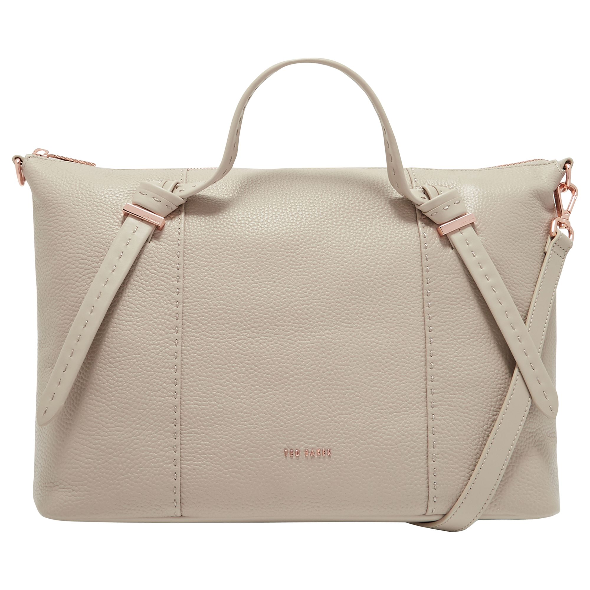 Ted Baker Oellie Knotted Handle Large Leather Tote Bag at John Lewis    Partners c76d1a12d0