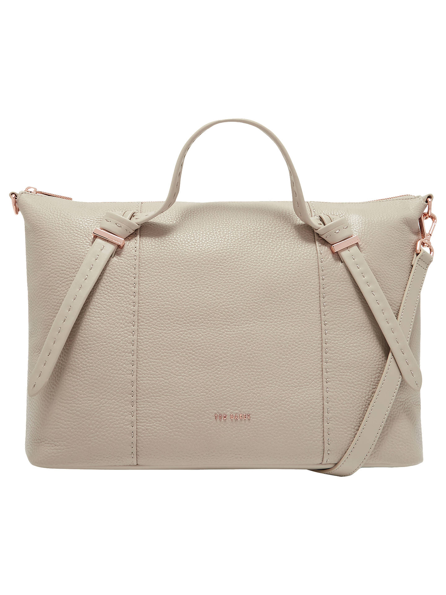 BuyTed Baker Oellie Knotted Handle Large Leather Tote Bag, Taupe Online at  johnlewis.com ... be2fcde05b