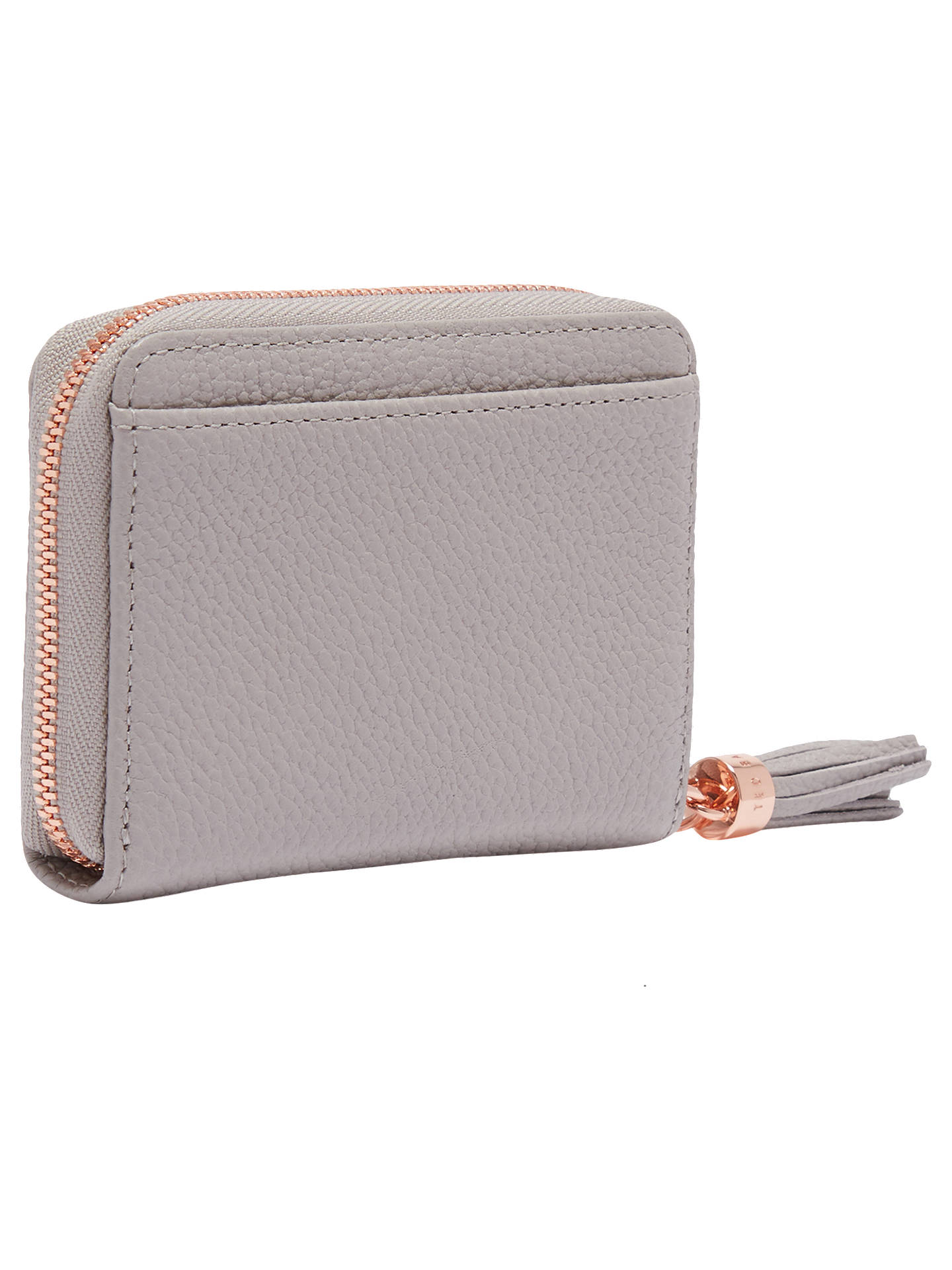 Buy Ted Baker Sabel Small Leather Zip Around Matinee Purse, Mid Grey Online at johnlewis.com