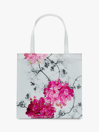 Buy Ted Baker Iviecon Floral Small Shopper Bag, Grey/Multi Online at johnlewis.com