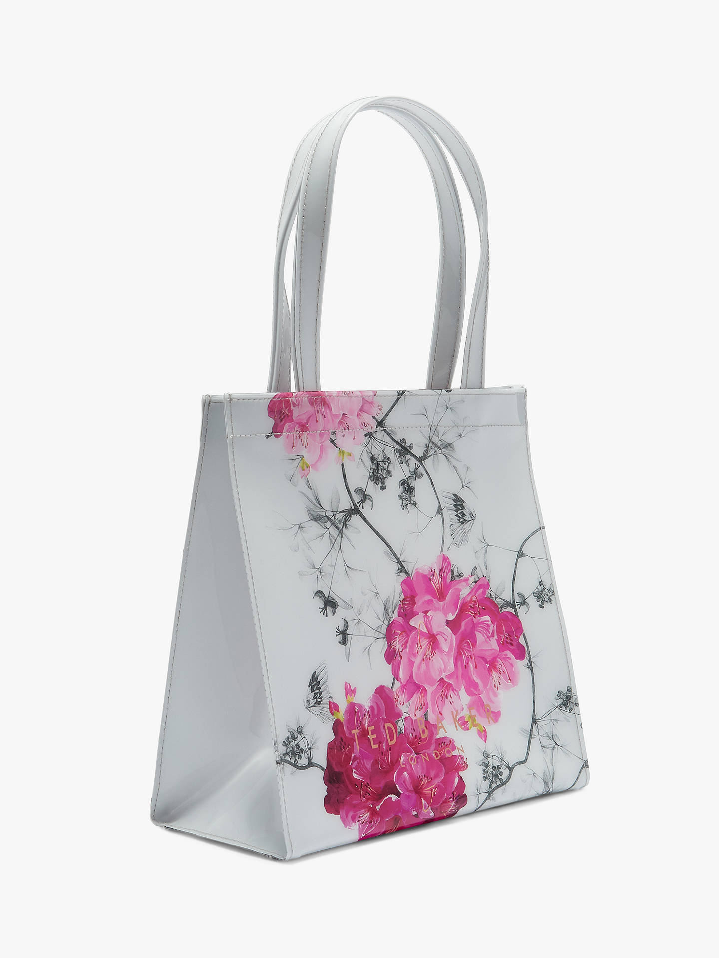BuyTed Baker Iviecon Floral Small Shopper Bag, Grey/Multi Online at johnlewis.com