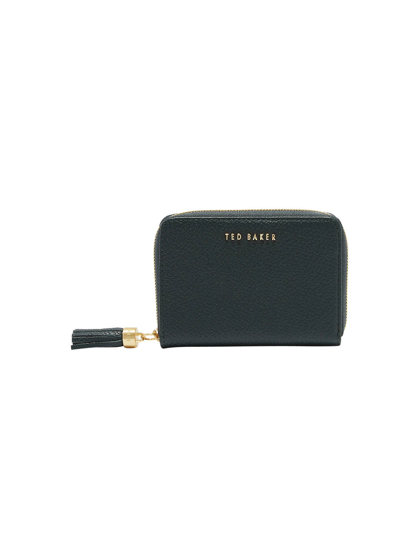 BuyTed Baker Sabel Small Leather Zip Around Matinee Purse, Dark Green Online at johnlewis.com