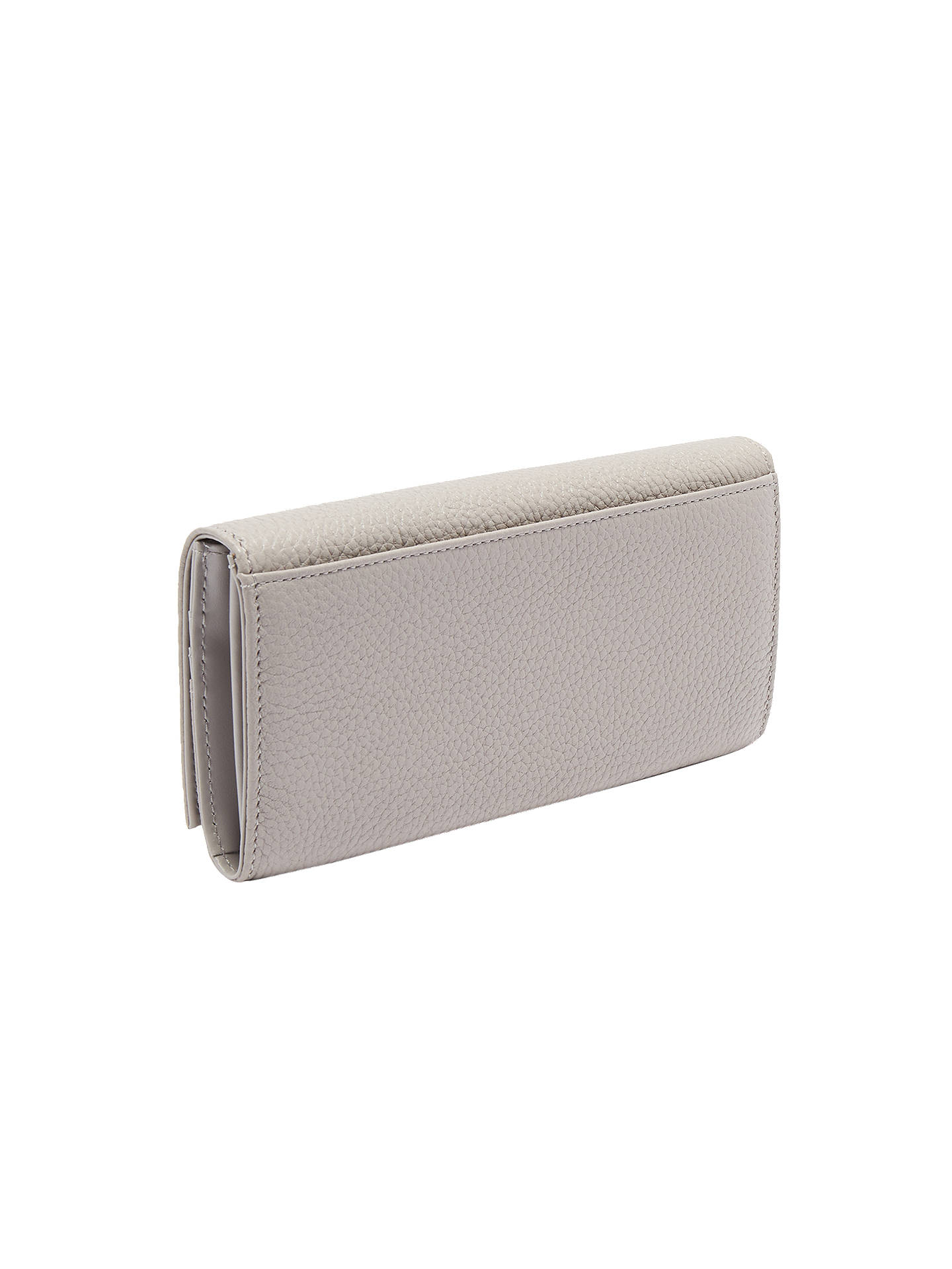 BuyTed Baker Ashling Twisted Bow Leather Purse, Charcoal Online at johnlewis.com