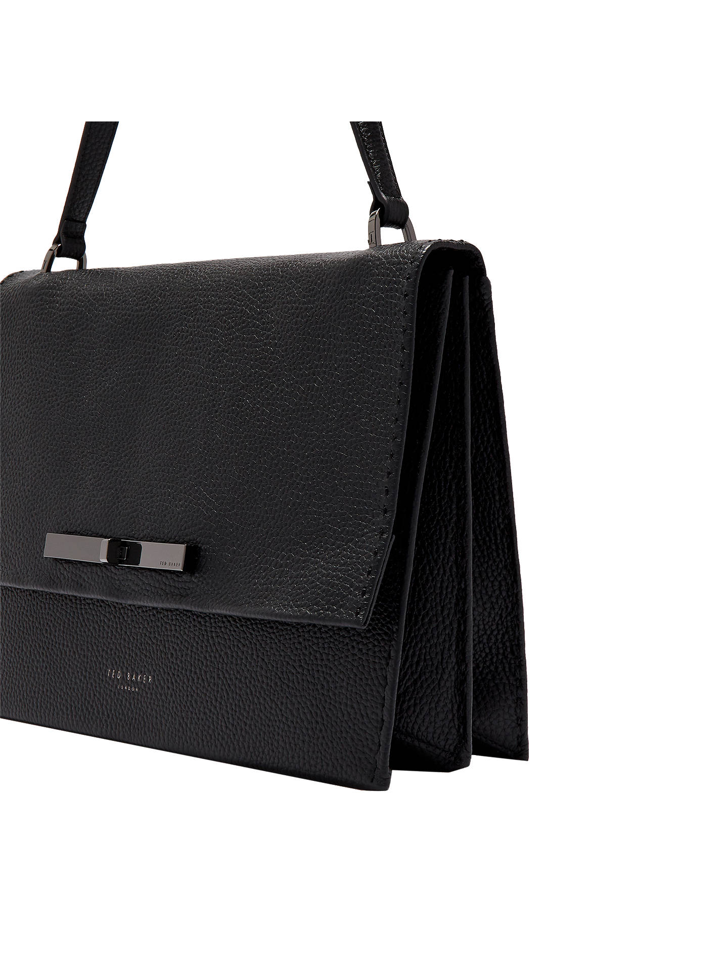 BuyTed Baker Jessi Leather Handbag, Black Online at johnlewis.com