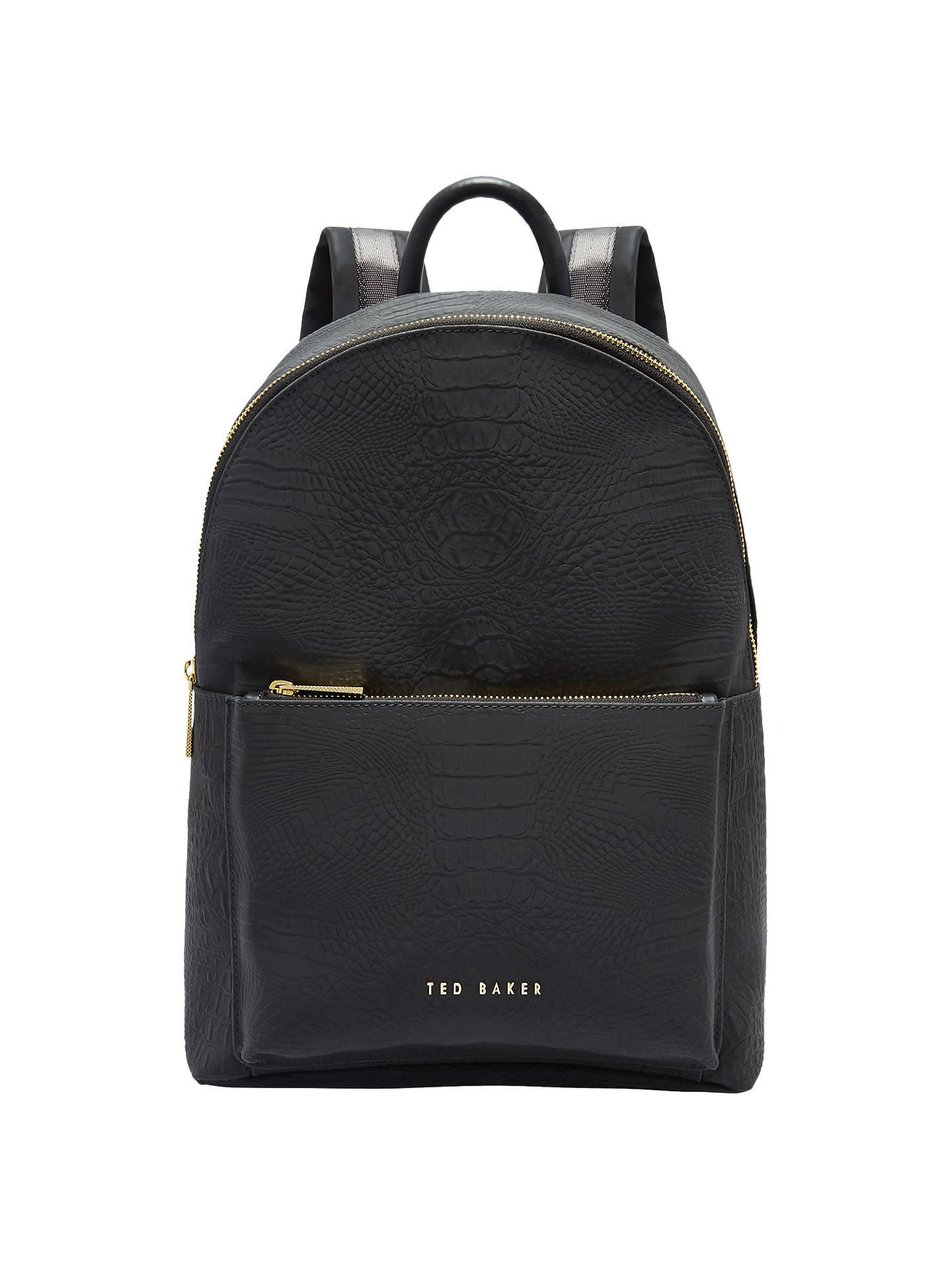 54232e1a32 Buy Ted Baker Creaala Leather Croc Effect Backpack