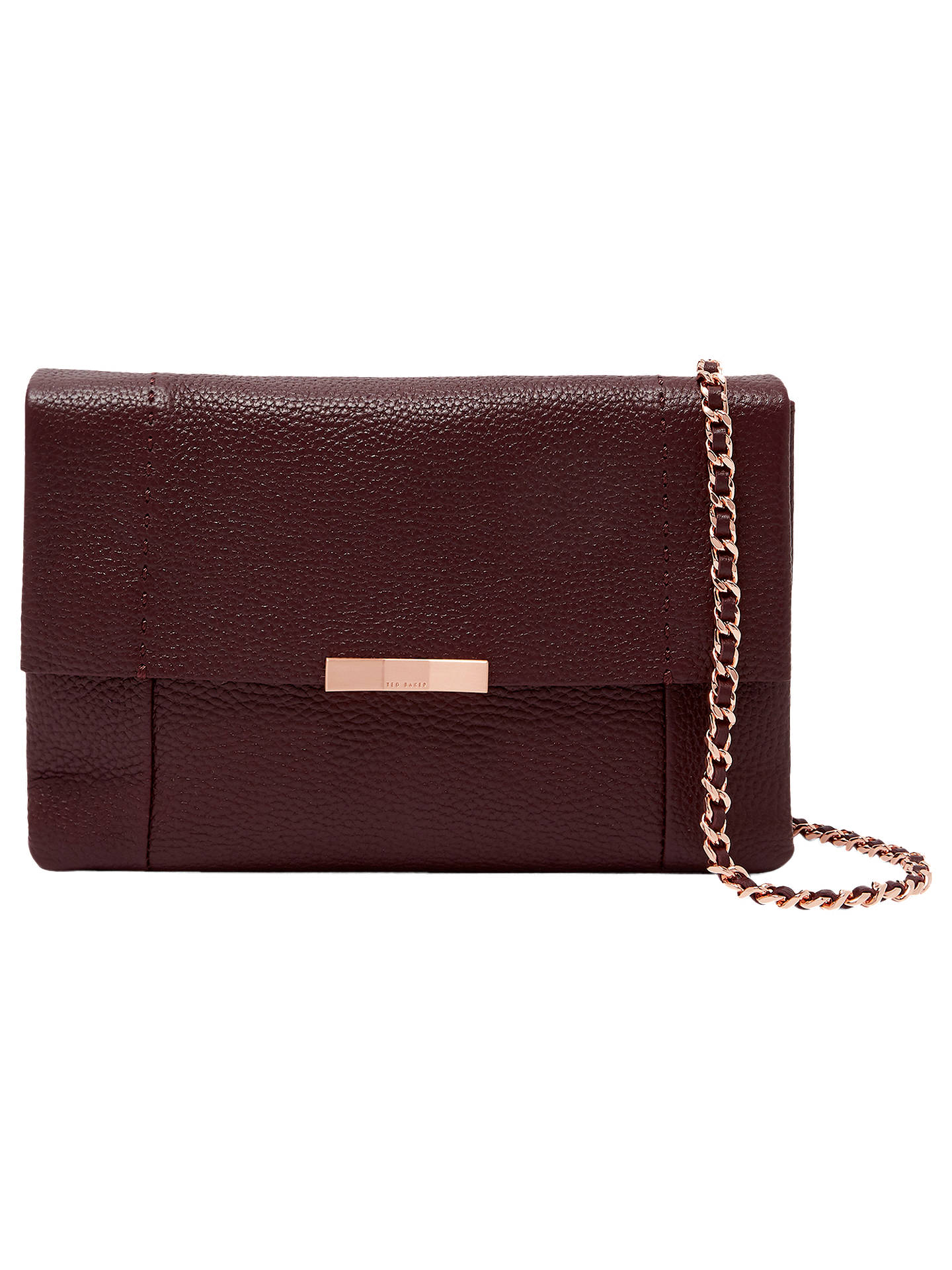 7163ef31929f4 Ted Baker Clarria Leather Cross Body Bag at John Lewis   Partners