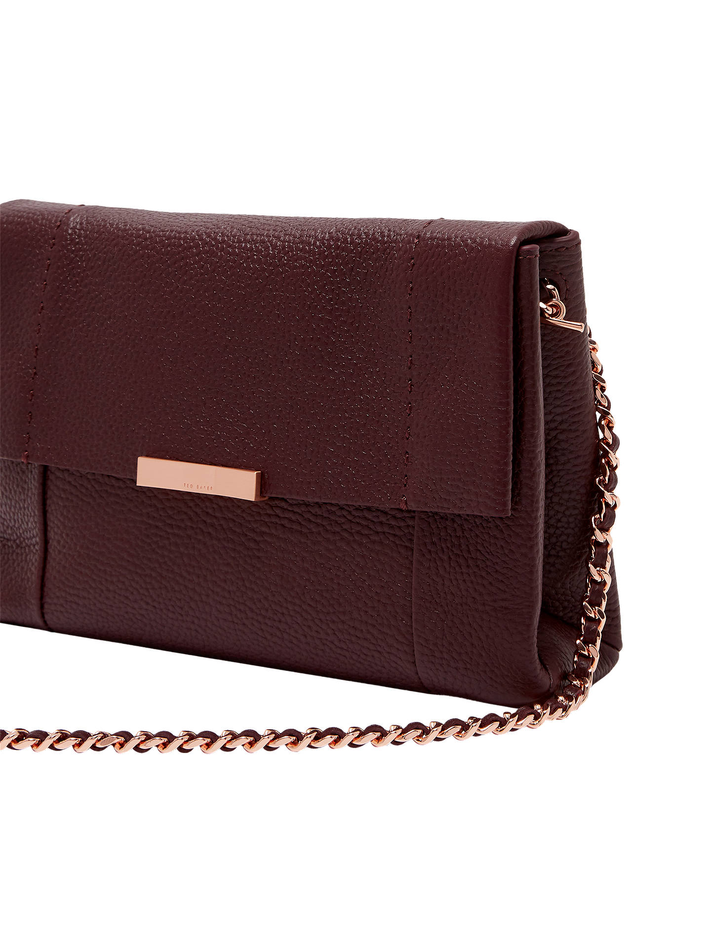 ded62828079c Ted Baker Clarria Leather Cross Body Bag at John Lewis   Partners