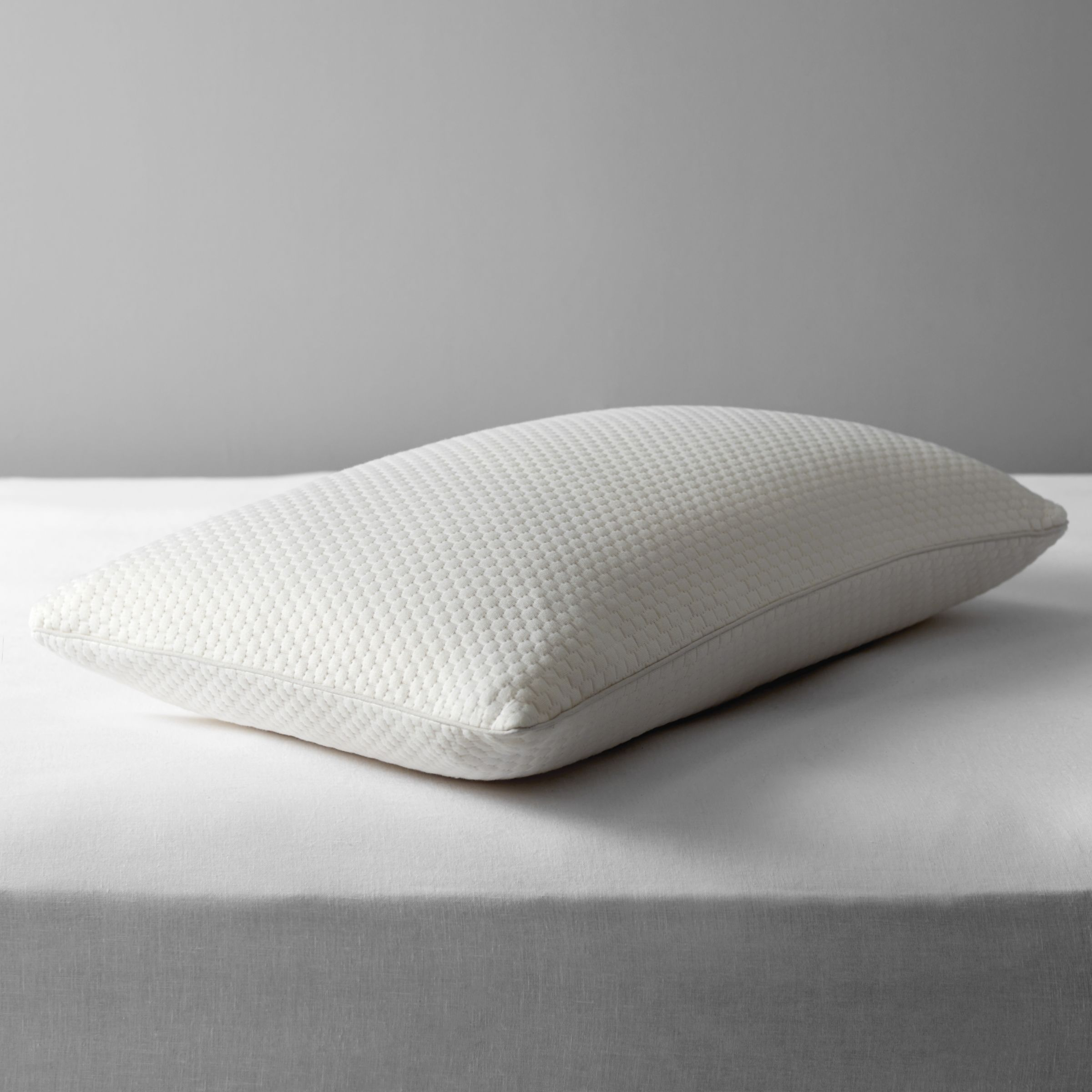 John Lewis & Partners Specialist Synthetic Cluster Memory Foam Standard Support Pillow, Firm