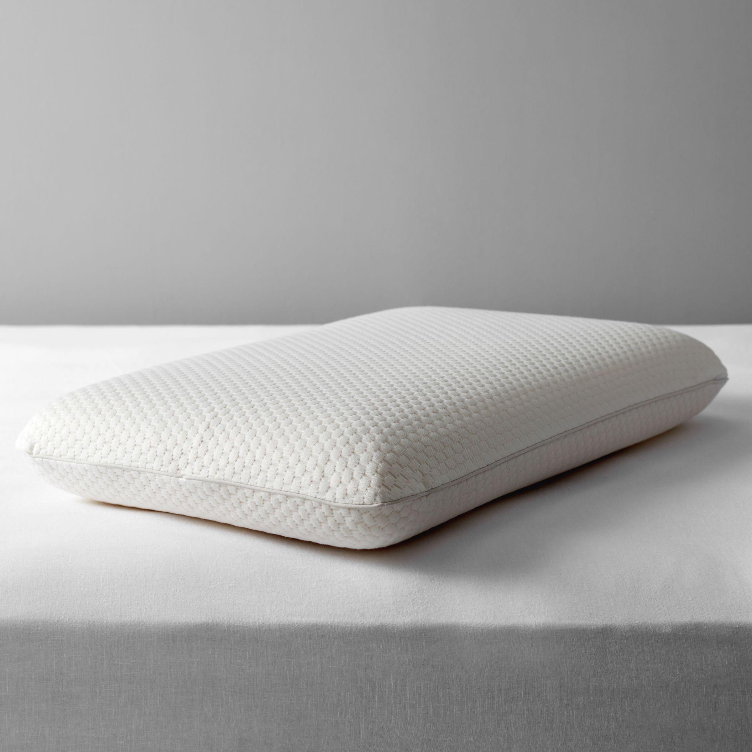 John Lewis & Partners Specialist Synthetic Memory Foam Standard Support Pillow, Medium/Firm