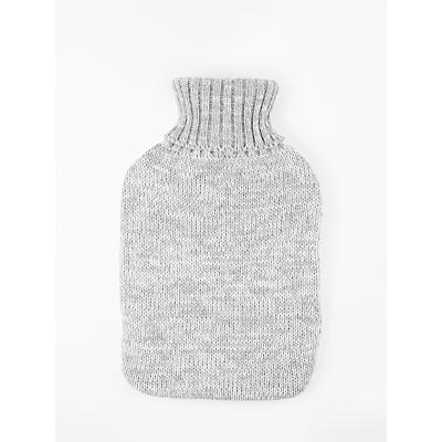 John Lewis & Partners Hot Water Bottle, Grey Knit