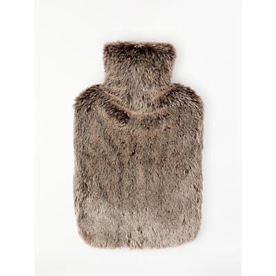 John Lewis & Partners Alaska Fur Brown Hot Water Bottle