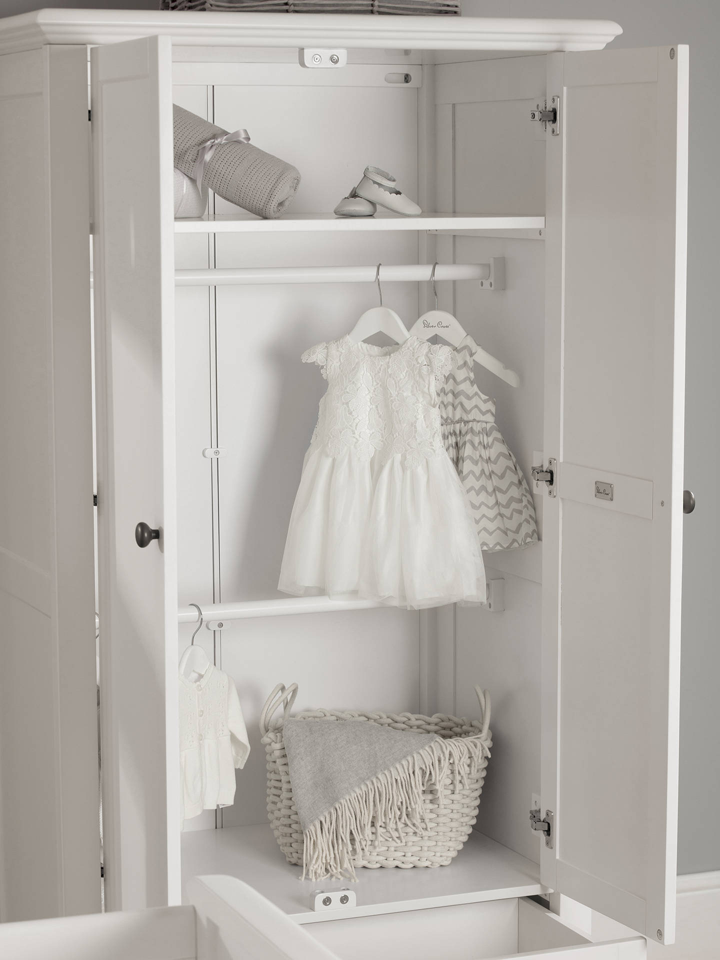 BuySilver Cross Nostalgia Wardrobe, Pure White Online at johnlewis.com