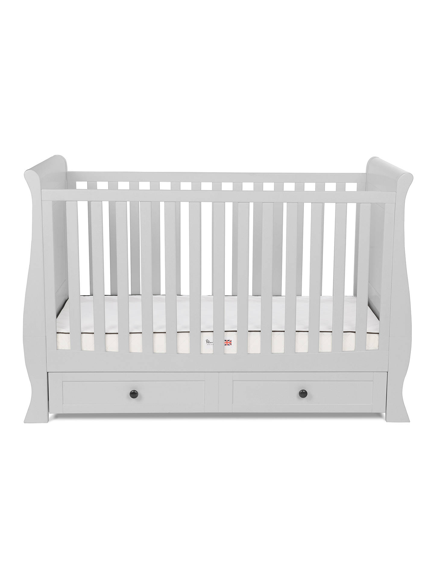 Buy Silver Cross Nostalgia Sleigh Cotbed, Dove Grey Online at johnlewis.com
