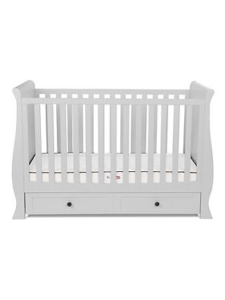 Silver Cross Nostalgia Sleigh Cotbed, Dove Grey