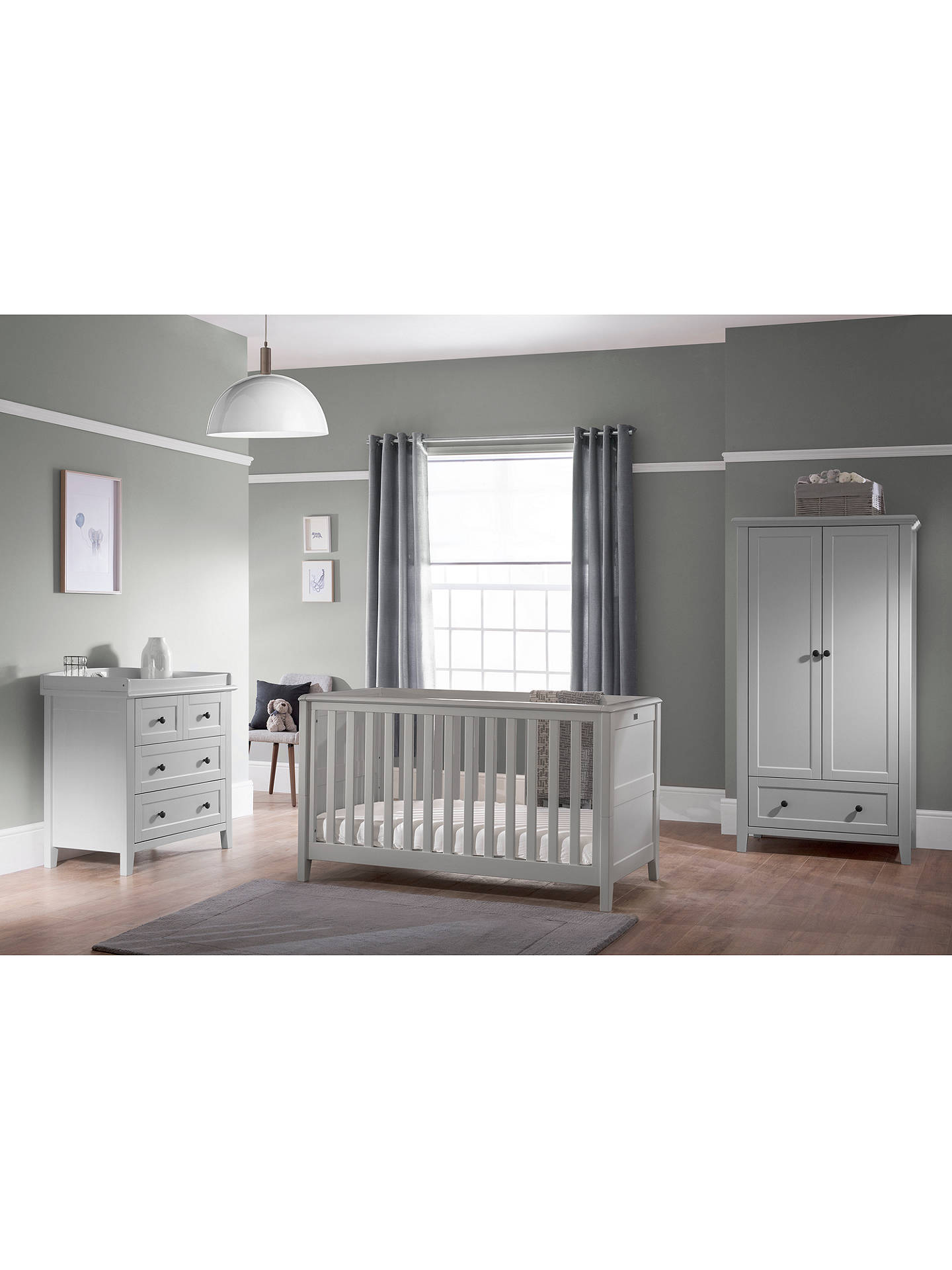 BuySilver Cross Nostalgia Cotbed, Dove Grey Online at johnlewis.com