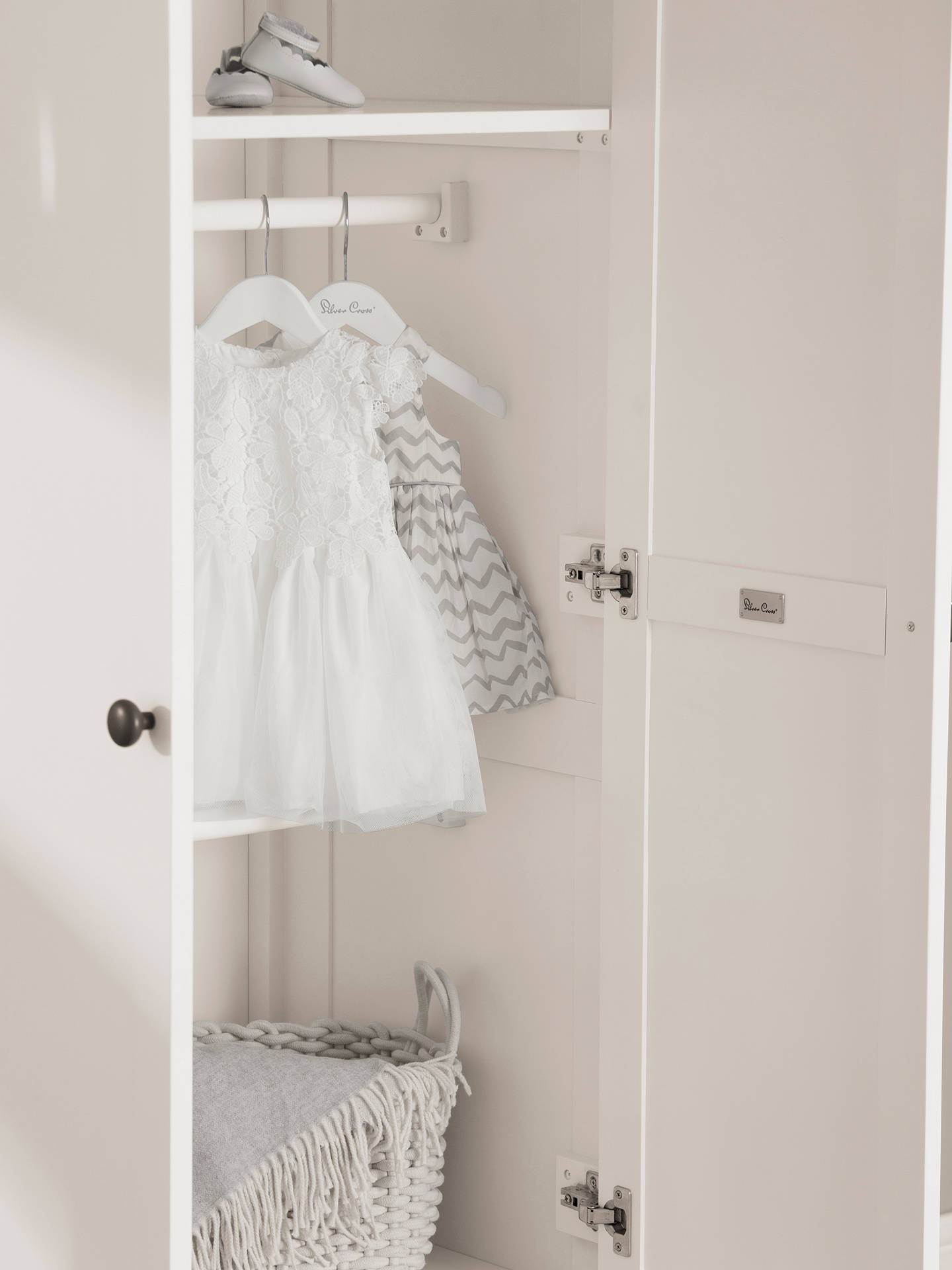 BuySilver Cross Nostalgia Wardrobe, Ivory Online at johnlewis.com
